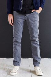 Kato Storm Grey Slouch Fit Selvedge Jean