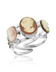 Mia And Beverly Cameo Trio Ring Multicolor