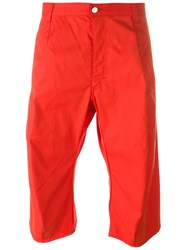 Walter Van Beirendonck Vintage Knee Length Shorts Red
