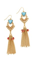 Adia Kibur Erica Earrings Gold Turquoise