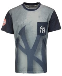 Forever Collectibles Men's New York Yankees Pocket Sublimated T Shirt Gray Navy
