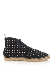 Saint Laurent Studded High Top Canvas Espadrilles