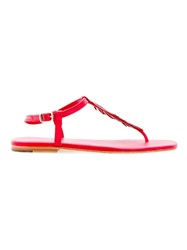 Osklen Flat Sandals Red