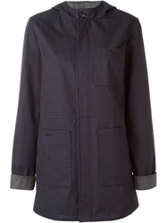 A.P.C. 'Etretat' Raincoat Blue