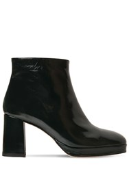 Miista 75Mm Edith Patent Leather Ankle Boots Dark Green