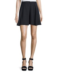 See By Chloe High Waist A Line Mini Skirt Dark Night
