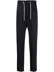 Eleventy High Waisted Striped Trousers 60