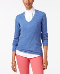 Charter Club Cashmere V Neck Sweater Only At Macy's Bluegrass