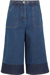 Valentino Two Tone Denim Culottes