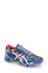 Women's Asics 'Gel Noosa' Running Shoe Blue White Hot Pink