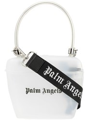 Palm Angels Transparent Padlock Tote White