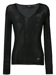 Dsquared2 V Neck Jumper Black