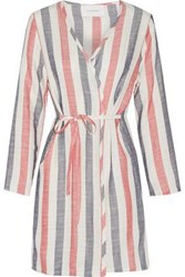 Solid And Striped The Erin Cotton Blend Gauze Robe Off White Off White