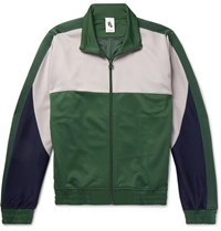 Nike Martine Rose Colour Block Tech Jersey Track Jacket Forest Green