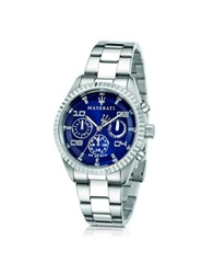 Maserati Competizione Chronograph Multi Blue Dial Stainless Steel Men's Watch