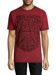 Affliction Causeway Cotton Tee Red