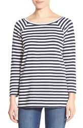 Leith Stripe Tee Navy Evening Stripe