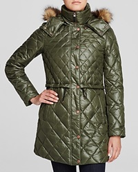Marc New York Kava Faux Fur Trim Quilted Puffer Coat