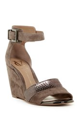 Vc Signature Isaac Ankle Strap Wedge Gray