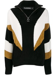 Filles A Papa Zipped Knitted Jumper Black