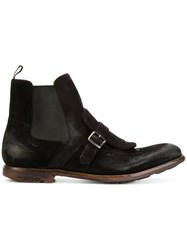 Church's Shanghai Boots Men Calf Leather Leather Rubber 7 Brown