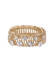Mikey Small Stone Crystal On Ringed Cuff Brace