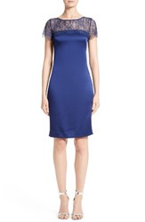 St. John Women's Collection Lace And Satin Crepe Sheath Dress