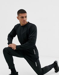 Calvin Klein Performance Panelled Logo Cuffed Joggers Black