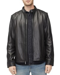 Ugg Orlando Leather Racer Jacket Black