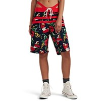 R 13 Cutout Hawaiian Print Board Shorts Multi