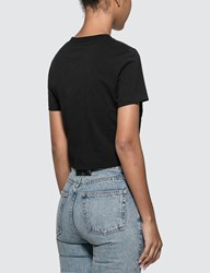 Alexander Wang.T Wash And Go Ruched Crop T Shirt Black