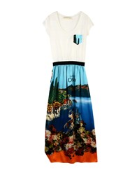 Shirtaporter Long Dresses Azure