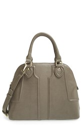 Sole Society 'Marlow' Structured Faux Leather Dome Satchel Grey