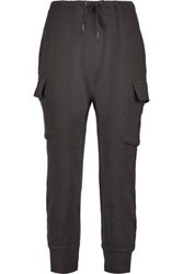 R 13 Knitted Cotton Track Pants Charcoal