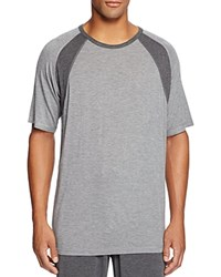 Daniel Buchler Modal Crewneck Color Block Lounge Tee Gray