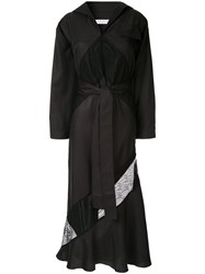 Christopher Esber Belted Shirt Dress Black