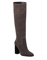 Marc Fisher Netty Knee High Suede Boots Grey