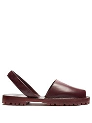 Goya Leather Slingback Sandals Burgundy
