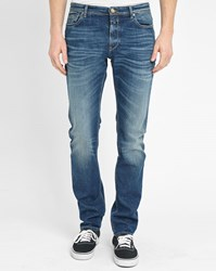 Closed Faded Blue Elastane Slim Fit Jeans