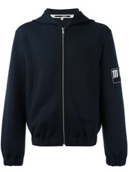 Mcq By Alexander Mcqueen Zip Up Hoodie Blue