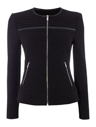 Episode Textured Jacket With Cutout Shoulder Detail Black