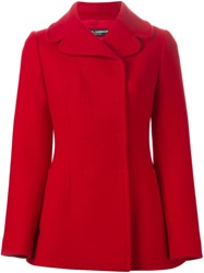 Dolce And Gabbana Short Double Breasted Peacoat Red