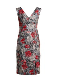 Erdem Joyti Rose Jacquard Dress Red Multi