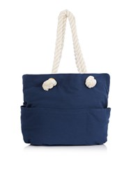 Maison De Nimes Large Rope Handle Beach Bag Blue