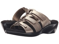 Walking Cradles Cast Mid Bronze Leather Women's Sandals Pewter