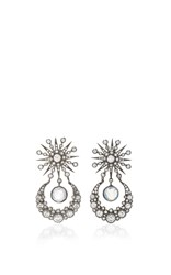 Colette Jewelry Star And Moon Earrings With Moonstone Black