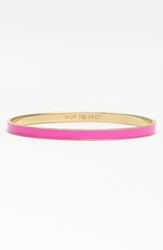 Kate Spade 'Idiom Hot To Trot' Ultra Thin Enamel Bangle Hot To Trot Pink