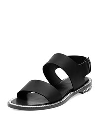 Givenchy Chain Wrapped Two Band Sandal Black