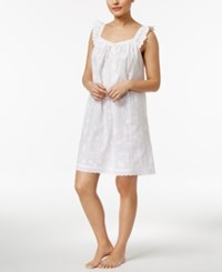 Charter Club Embroidered Cotton Nightgown Only At Macy's Bright White