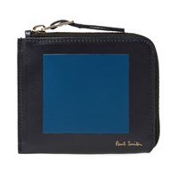 Paul Smith Square Zip Wallet Blue